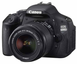 Canon EOS 600D Digital SLR Camera With 18-55mm Lens