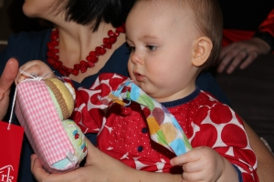 Evie Lattimore, Opening 1st Birthday Presents