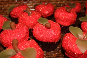 Red Apple Cupcakes