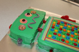 Hugo Lattimore - 4th Birthday Robot Cake