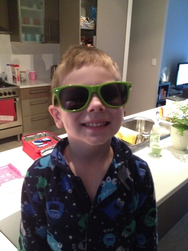 Hugo Wearing Wotif Sunglasses
