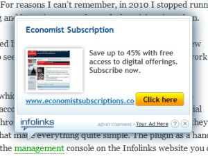 Infolinks Example Advertising