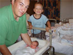 Maggie Grace Lattimore, Born 11 January 2006 with father Cameron and son Tom