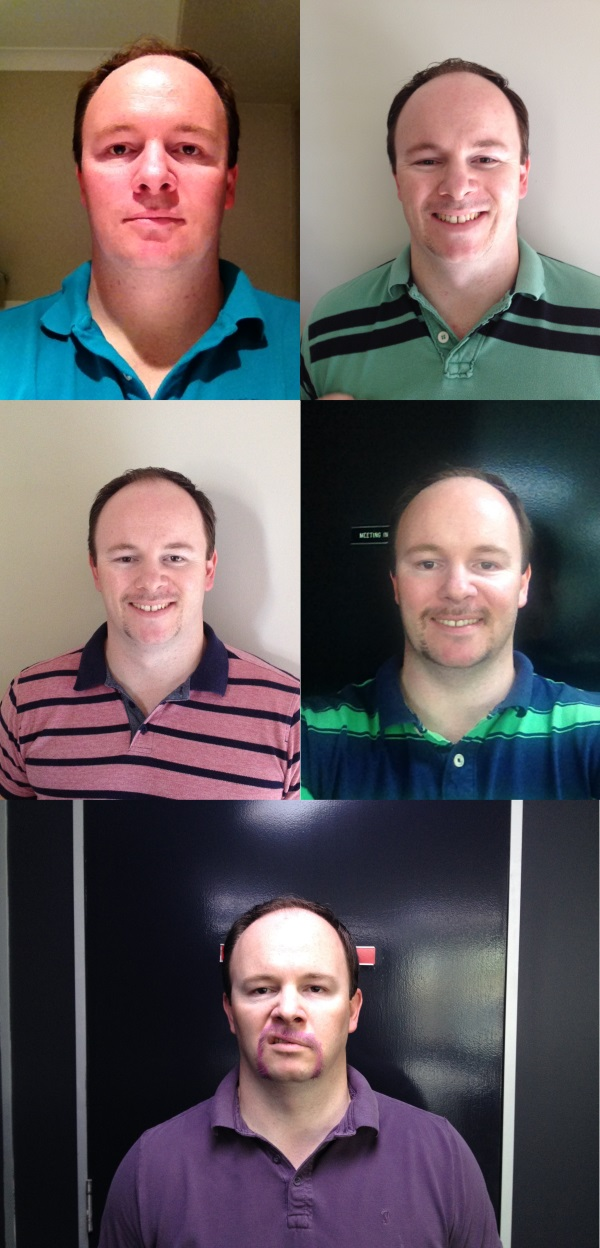 Alistair Lattimore Movember 2014 Growth Collage
