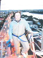 Alistair Lattimore At The Top of the Story Bridge In Brisbane - 14 January 2006