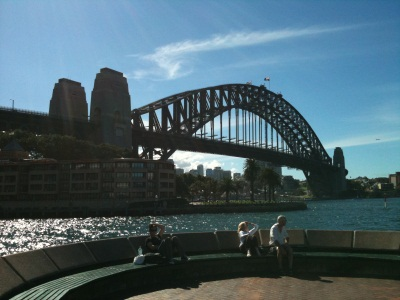 Sydney Harbour Bridge viewed from The Rocks