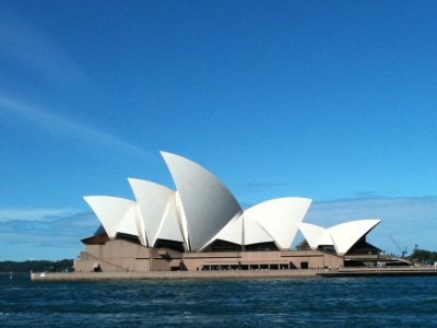 Sydney Opera House, viewed from The Rocks
