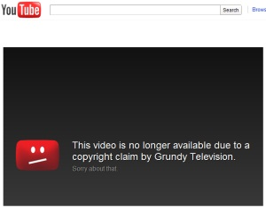 YouTube Grundy Television Copyright Claim